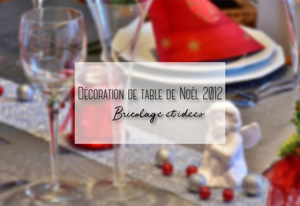 décoration table de noel 2012