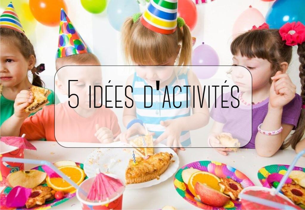 05 idées d'activités