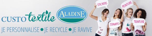 Customisez vos vêtements et accessoires avec Aladine !