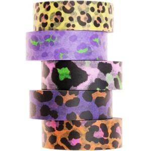 set-de-masking-tape-rico-design-leopard-fluo-15-cm-x-10-5-pcs-l