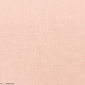 tissu-rico-double-gaze-de-coton-motifs-dores-sur-fond-rose-poudre-par-10-cm-sur-mesure-l