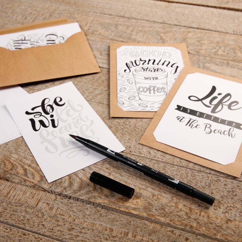 Lettering carte