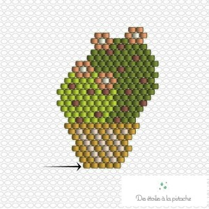 Schéma tissage perles Cactus