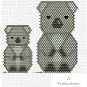 Schéma tissage perles Koala