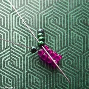 Tuto base tissage perles brick stitch
