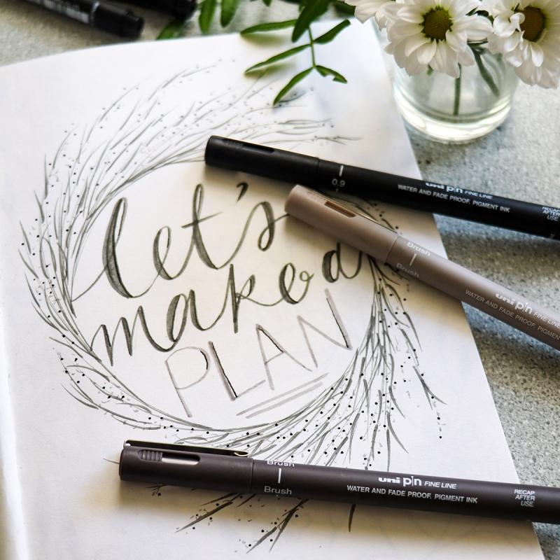 lettering papier