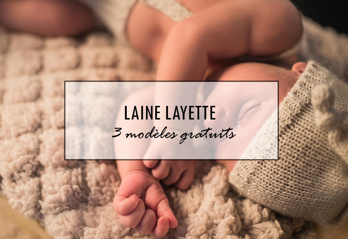 Layette tricot : 3 modèles gratuits