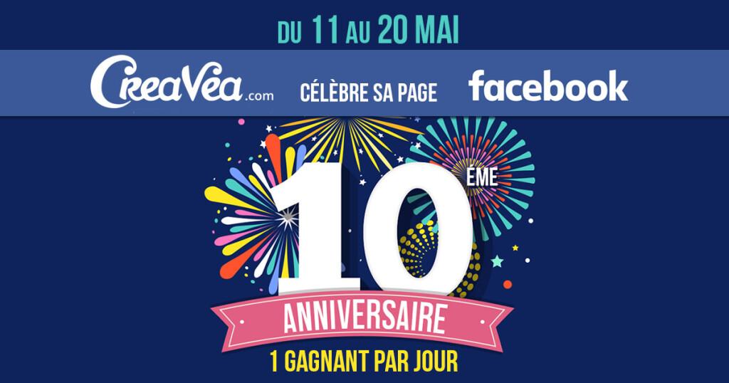 Concours : notre page Facebook fête ses 10 ans