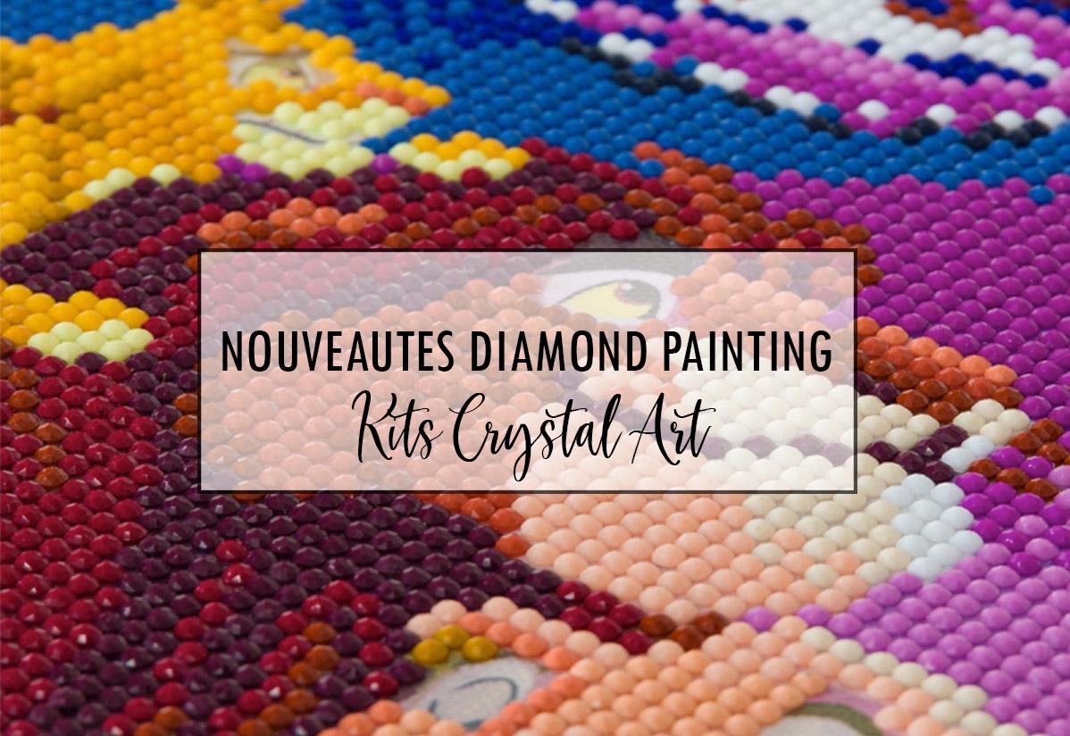 Nouveautés Diamond Painting : découvrez les kits Crystal Art !