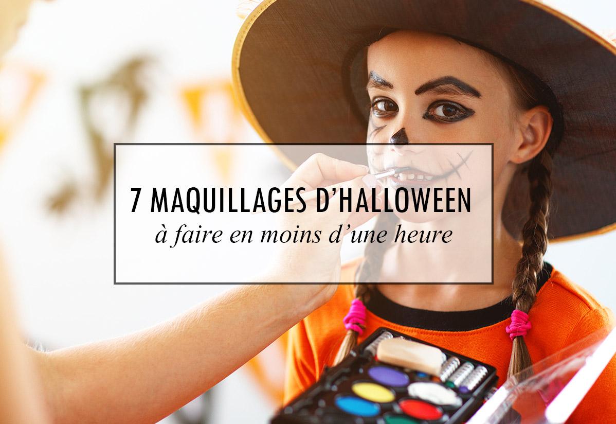 7 maquillages d'Halloween à faire en moins d'une heure