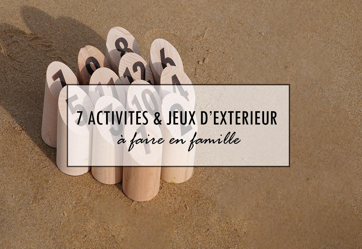 7 activités et jeux à faire en extérieur en famille