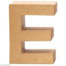 Lettre en carton 20 cm