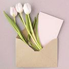 Enveloppe et carte 75 x 100