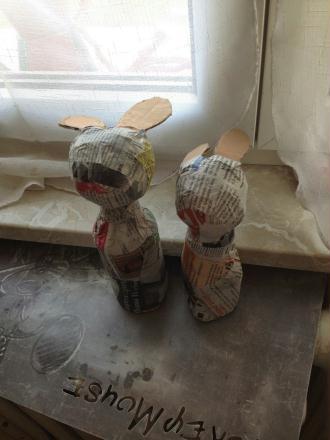 1. Rassembler le matériel + Réaliser le lapin de Pâques