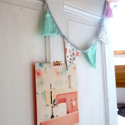 DIY Guirande de fanions en tissu