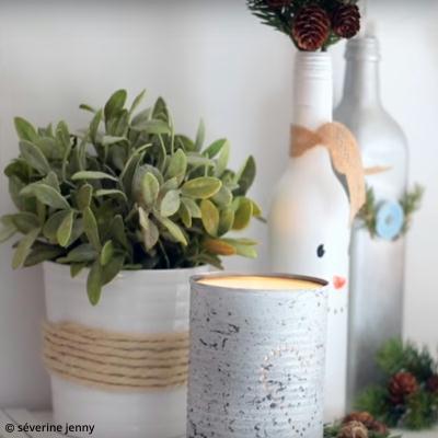 diy d co hivernale recycler des bocaux pour en faire des vases vid o id es conseils et. Black Bedroom Furniture Sets. Home Design Ideas