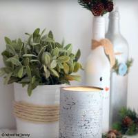 DIY Déco Hivernale : Recycler des bocaux pour en faire des vases (vidéo)