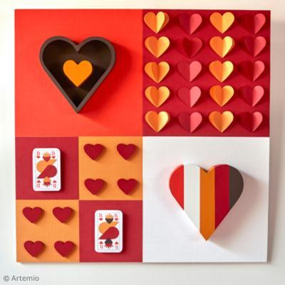 diy saint valentin panneau cartes jouer id es. Black Bedroom Furniture Sets. Home Design Ideas