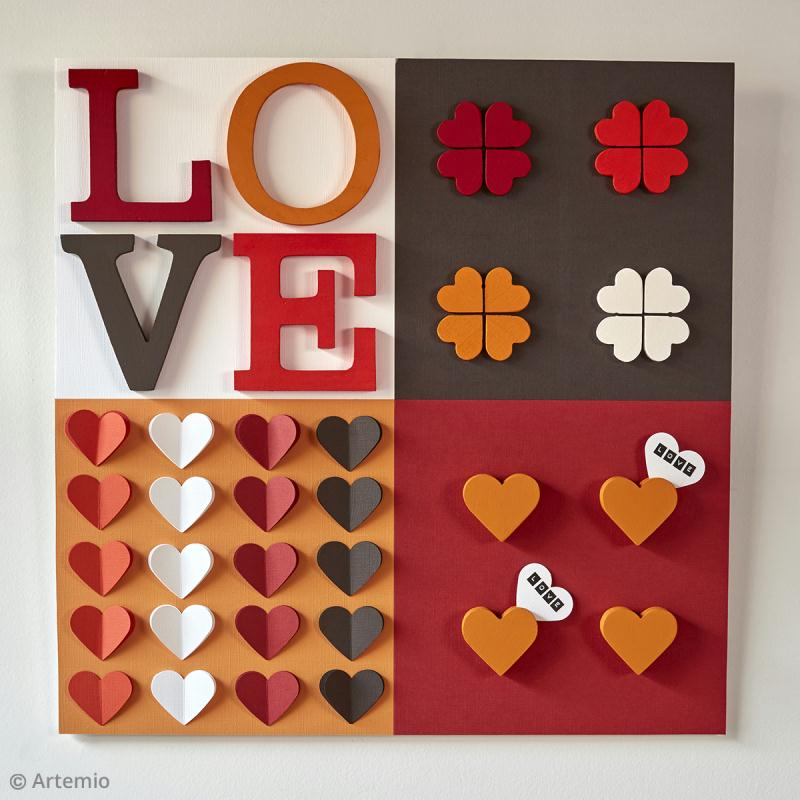 diy saint valentin panneau love id es conseils et tuto saint valentin. Black Bedroom Furniture Sets. Home Design Ideas
