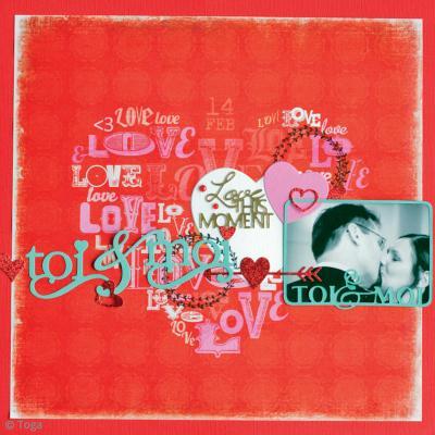 Diy page de scrapbooking saint valentin toi moi id es conseils et t - Idee scrapbooking amour ...