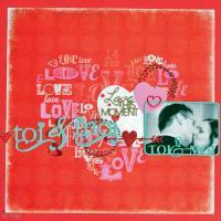 DIY Page de scrapbooking Saint Valentin : Toi & Moi
