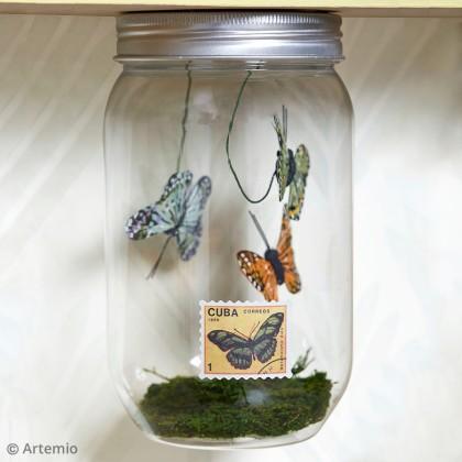 DIY Bocal aux papillons