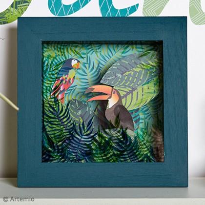 Tuto objet d co urban jungle le cadre 3d id es - Baguette d encadrement pour tableaux ...