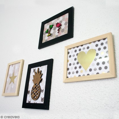 Diy d coration mur de cadres tropical id es conseils for Decoration cuisine kawaii