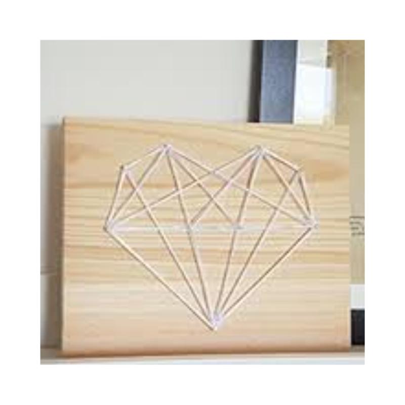 diy tableau string art coeur origami id es conseils et tuto home d co cadre tableau. Black Bedroom Furniture Sets. Home Design Ideas