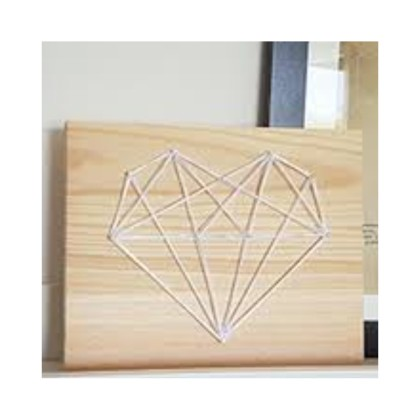 diy tableau string art coeur origami id es conseils et. Black Bedroom Furniture Sets. Home Design Ideas