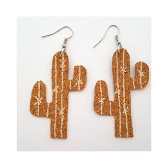 5. DIY Boucles d'oreilles cactus en liège : Finalisation