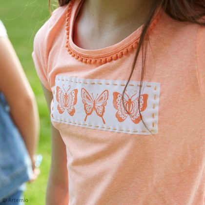 DIY Artemio : Customisation tee-shirt aux papillons