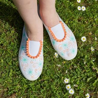 2. DIY Custo chaussures d'été : Les étapes de réalisation