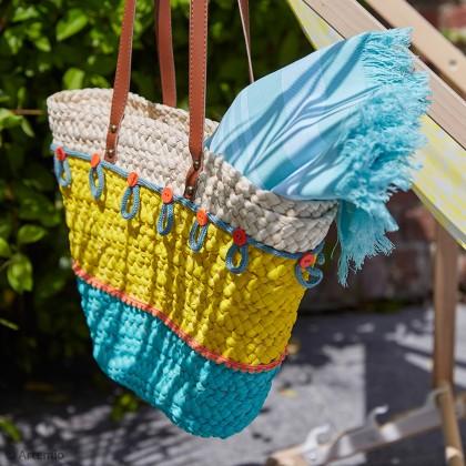 DIY Custo de sac d'été avec fil tricotin et boutons
