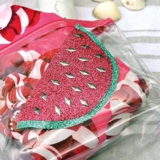2. DIY Pochette pastèque customisée : la réalisation