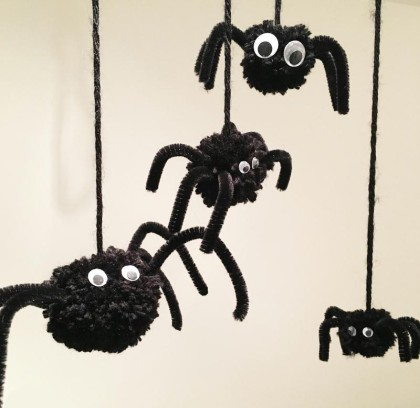 Araignée Pompon d'Halloween