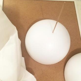 2. Etape 1 : Percer les demi-sphères