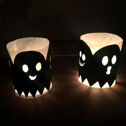 Photophore d'Halloween en papier