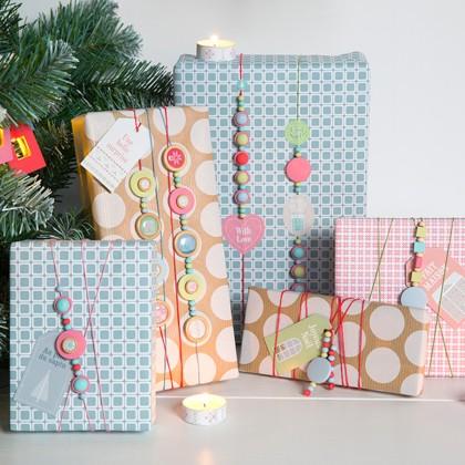 Paquet cadeau fait avec amour
