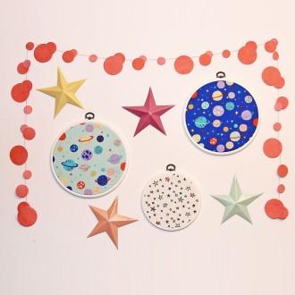 2. Fabriquer la déco avec les cercles à broder