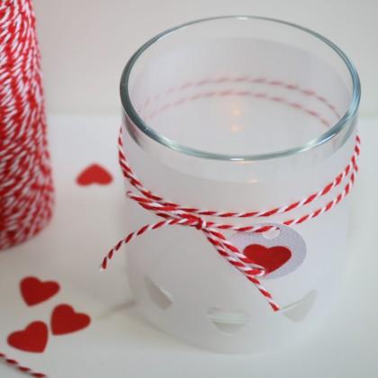 DIY déco : Photophore de Saint-Valentin