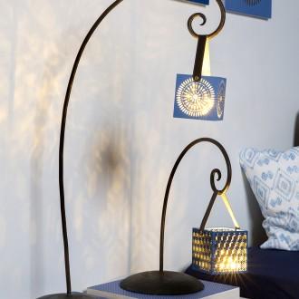 2. DIY Lanterne ethnique bleue