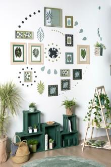3. Composition murale green terminée !