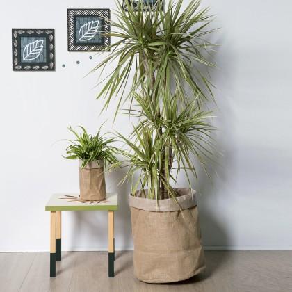 diy rapide d co cache pot en toile id es conseils et tuto d co green et v g tale. Black Bedroom Furniture Sets. Home Design Ideas