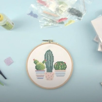 Tutoriel : Cactus diamond painting