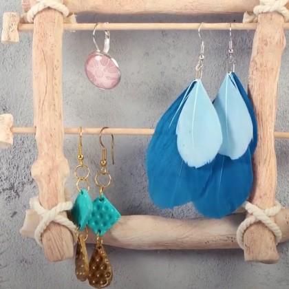 DIY : fabriquer un présentoir boucles d'oreilles en pâte Fimo