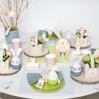 2. Mettre en place les jolis sets de table de Pâques