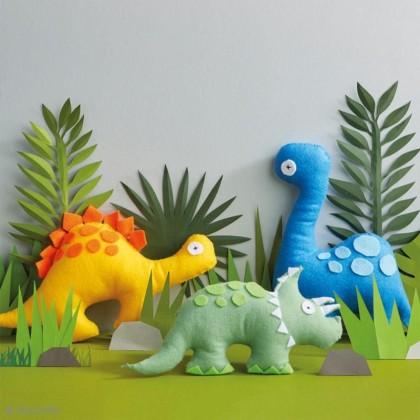 DIY: Coudre des dinosaures en feutrine