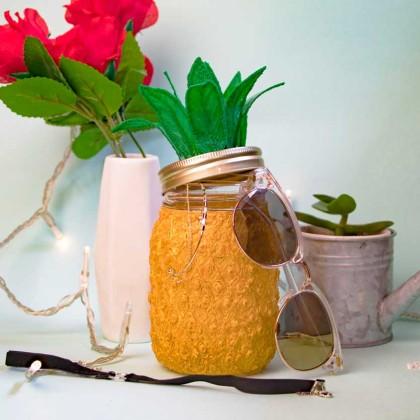 DIY : Customiser un Mason Jar Ananas