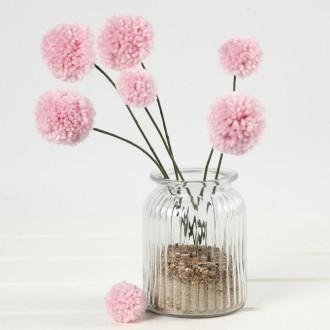 3. Fleurs pompons terminées !